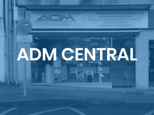 """ADM Central<p style=""""font-size:12px;"""">Santiago de Compostela</p>"""