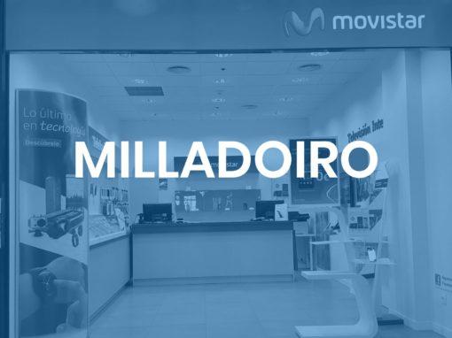 """Milladoiro<p style=""""font-size:12px;"""">Santiago de Compostela</p>"""