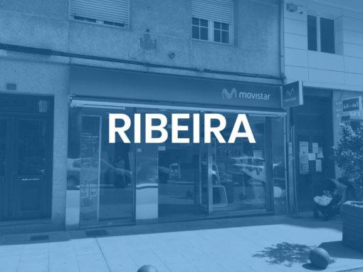 """Ribeira<p style=""""font-size:12px"""">Santa Uxía de Ribeira</p>"""