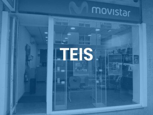 """Teis<p style=""""font-size:12px;"""">Vigo</p>"""