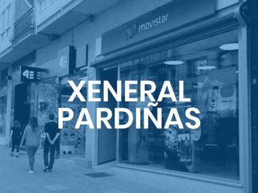 """Xeneral Pardiñas<p style=""""font-size:12px;"""">Santiago de Compostela</p>"""